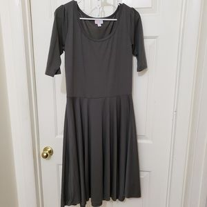 Lularoe Nicole Dress L Gray